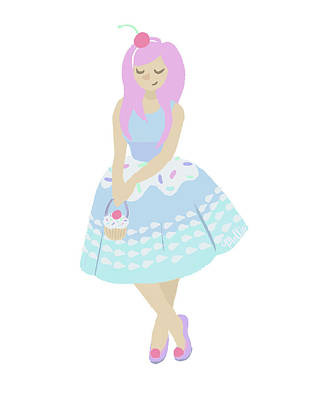 Cupcake Princess Poster by Mollie Draws