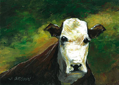 Curious Cow Poster by John Brown