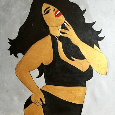 Curvy Beauty Poster by Miriam Amer