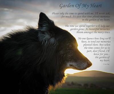 Custom Paw Print Garden Of My Heart Poster by Sue Long