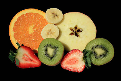 Cut Fruit Poster by Shane Bechler