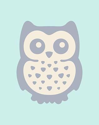 Cute Owl Poster by Julia Jasiczak