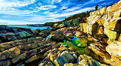Cutler Coast At Fairy Head Poster by Bill Caldwell -        ABeautifulSky Photography