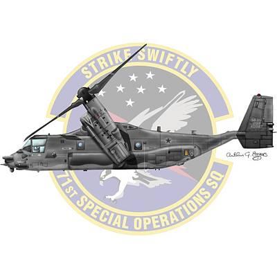 Cv-22b Osprey 71sos Poster by Arthur Eggers