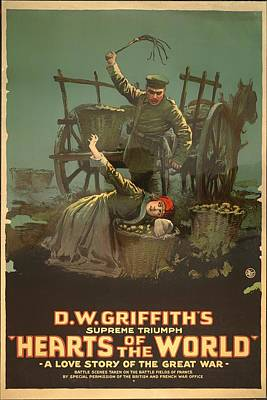 D W Griffith's Hearts Of The World 1918 Poster by Mountain Dreams