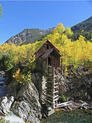D10426 Crystal Mill At The Crystal River Poster by Ed Cooper Photography