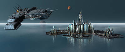 Daedalus Leaving Atlantis Propworx Catalog Version Poster by Joseph Soiza