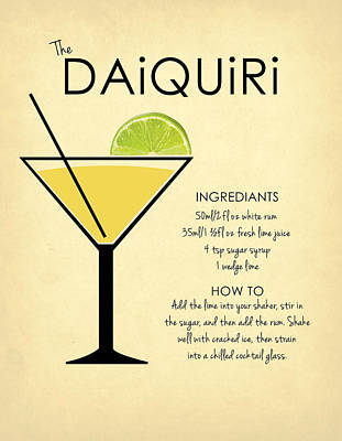 Daiquiri Poster by Mark Rogan