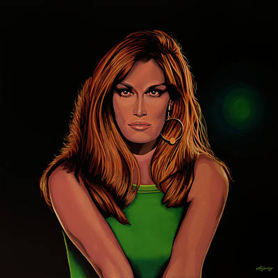 Dalida Portrait Painting Poster by Paul Meijering