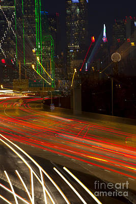 Dallas Commute - Abstract Poster by Anthony Totah