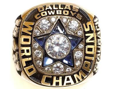 Dallas Cowboys First Super Bowl Ring Poster by Paul Van Scott