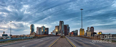 Dallas View At Dusk Poster by Tod and Cynthia Grubbs