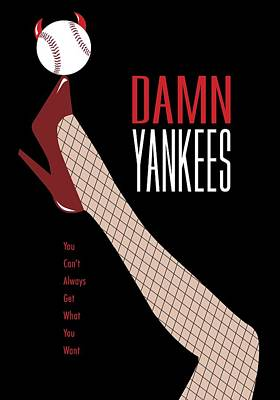 Damn Yankees Tee Shirt Poster by Ron Regalado