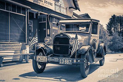 Danbury Country Store Ford Pickup Poster by Edward Fielding
