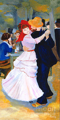 Poster featuring the painting Dance At Bougival After Renoir by Rodney Campbell