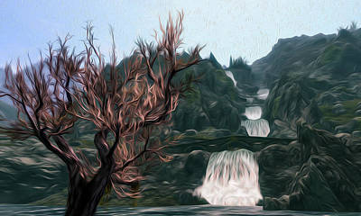 Dance Of River Spirit Poster by Andrea Mazzocchetti