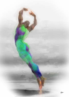 Dancer In Watercolours Poster by Quim Abella