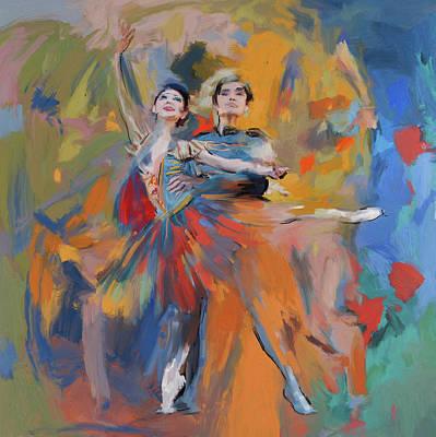 Dancers 278 1 Poster by Mawra Tahreem