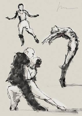 Dancing Poster by H James Hoff