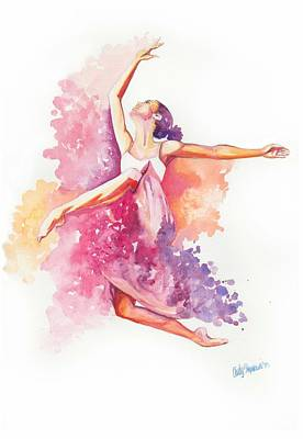 Dancing With Colors Poster by Cindy Elsharouni