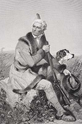 Daniel Boone 1734-1820. American Poster by Vintage Design Pics