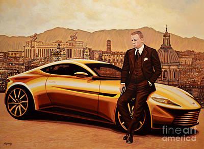 Daniel Craig As James Bond Poster by Paul Meijering