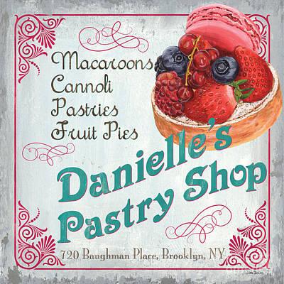 Danielle's Pastry Shop Poster by Debbie DeWitt