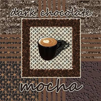 Dark Chocolate Mocha - Coffee Art Poster by Anastasiya Malakhova
