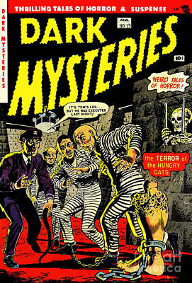 Dark Mysteries 13 Comiv Cover Restored Poster by Halloween Dreams