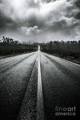 Dark Stormy Road To Cradle Mountain In Tasmania Poster by Jorgo Photography - Wall Art Gallery