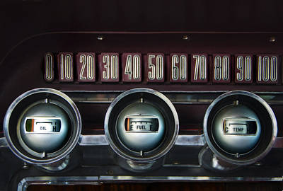 Dashboard Detail -1966 Ford Thunderbird Poster by Mitch Spence