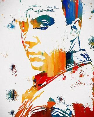 Dave Matthews Paint Splatter Poster by Dan Sproul