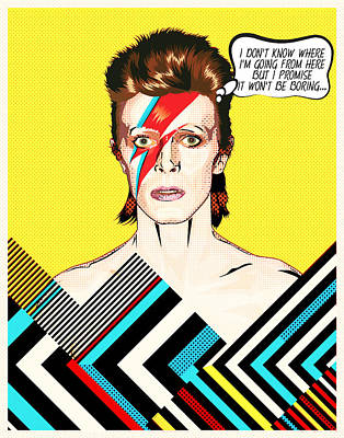 David Bowie Pop Art Poster by Bekare Creative