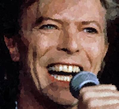 David Bowie Poster by Samuel Majcen