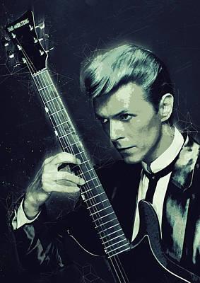 David Bowie Poster by Semih Yurdabak