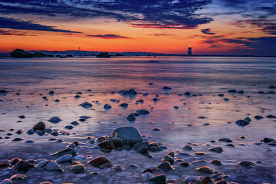 Dawn At Orient Point Poster by Rick Berk