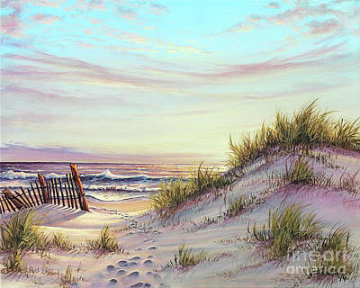 Dawn At The Beach Poster by Joe Mandrick