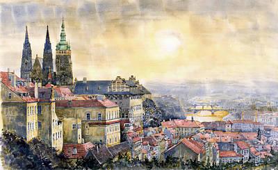 Dawn Of Prague Poster by Yuriy  Shevchuk