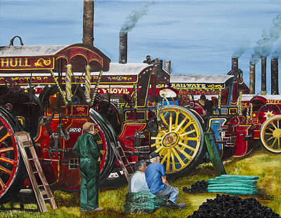 Day At The Steam Up Poster by Deborah Jesse
