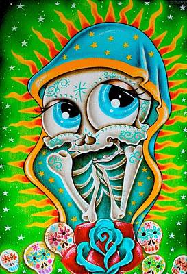 Day Of The Dead Guadalupe Poster by Jordana Hawen