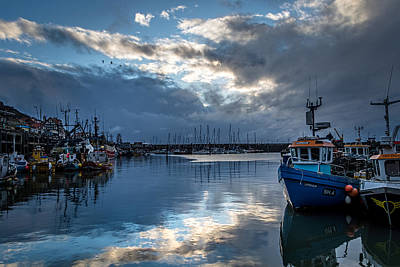 Daybreak Reflections...scarborough Harbour. Poster by Cliff Miller