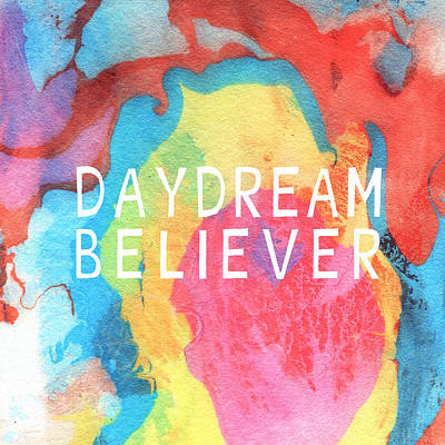 Daydream Believer- Abstract Art By Linda Woods Poster by Linda Woods