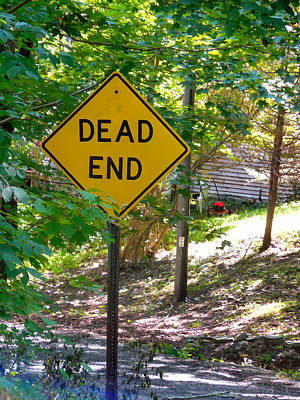 Dead End Road Sigh Poster by Lanjee Chee