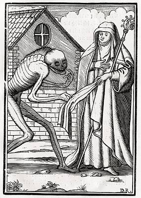 Death Comes To The Abbess From Der Poster by Vintage Design Pics