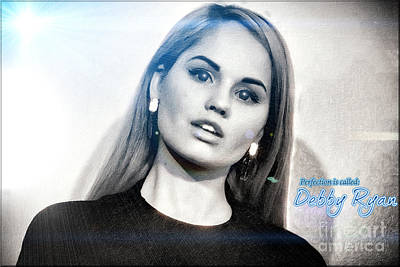 Debby Ryan - Contrasts Poster by Robert Radmore
