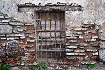 Decaying Wall And Window Antigua Guatemala 2 Poster by Douglas Barnett