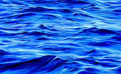 Deep Blue Poster by Sue  Brehant