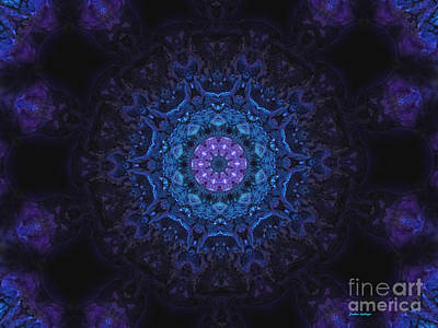 Deep Space Mandala Poster by Sandra Gallegos
