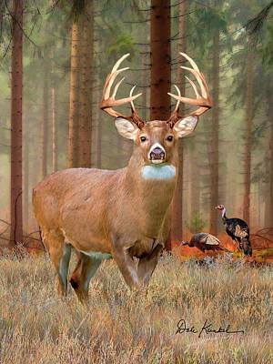 Deer Art - The Legend Poster by Dale Kunkel Art