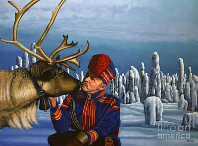 Deer Friends Of Finland Poster by Paul Meijering